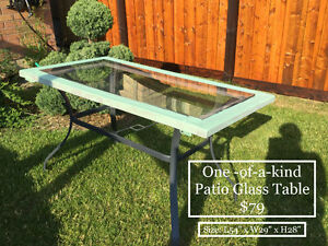 ONE OF KIND PATIO TABLE - HAND CRAFTED - Space Saver