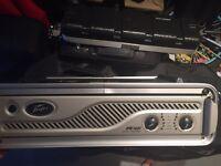 Peavey IPR 1600 professional amplifier in flight case