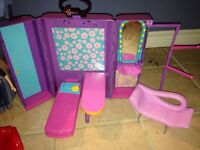Barbie house and motorcycle
