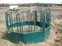 Hay feeder and water troughs for sale
