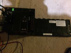 GE Fanuc PLC 10-slot base with IC693CPU341C with program cable