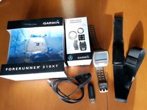 Garmin Forerunner 310XT triathlon watch with extras