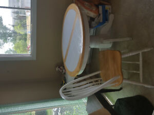 Kitchen table with one matching chair