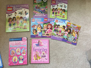 Lego friends and Barbie books