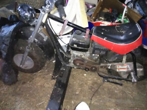 Dirt bike - lawn mower engine,  gas,  cool bike