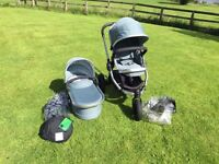 I candy peach jogger 3 travel system in avocado