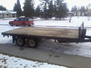 16 ft flat deck trailer
