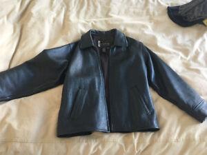 Beautiful dark brown leather jacket