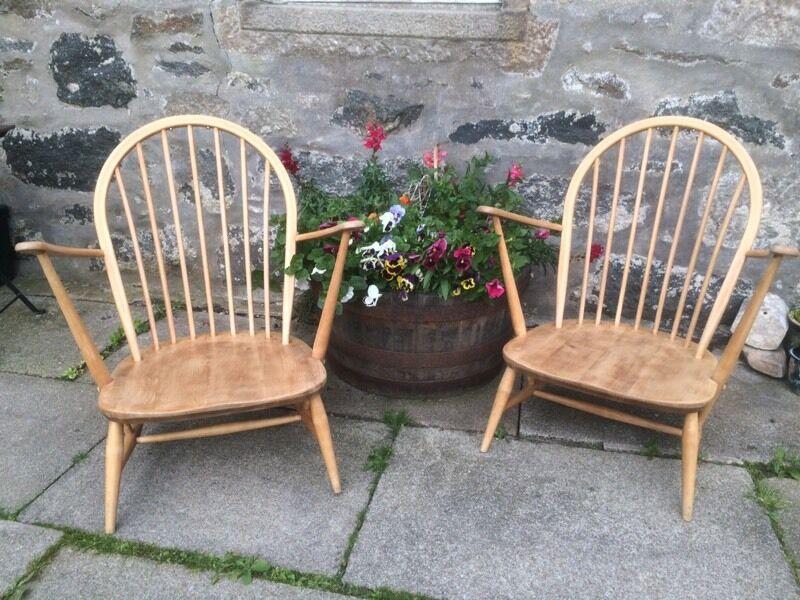 Original Restored Ercol 305 Windsor Chairs In Oldmeldrum