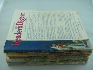 Eight Vintage 1943 Reader's Digest Magazine