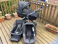 Mamas and papas black denim travel system