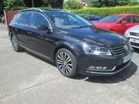 2014 VW Passat Estate 2.0 TDi Bluemotion Sport Black Sat Nav