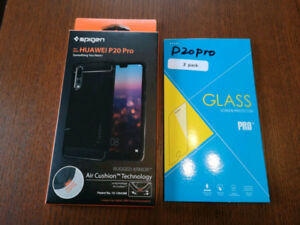 P20 Pro Spigen Case and Tempured Glass Protector - Like New