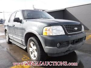 2002 FORD EXPLORER  4D UTILITY 4WD