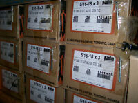 """5/16-18 NC 3"""" or 2 1/2"""" bolts CASE OF 400units 46lbs."""