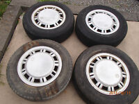 P205/70 R15 Four Eurovan Steel Rims, Tires and Covers