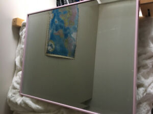 Pink bordered mirror from Home Sense
