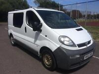 2003 Vauxhall Vivaro 1.9DTi CREW CAB 5 SEATER COMPLETE WITH M.O.T AND WARRANTY