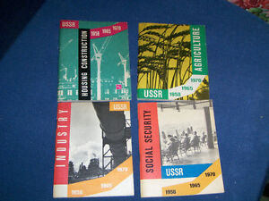 4 U.S.S.R. ECONOMY BOOKLETS-1958/1970-A.N.H.-THE SOVIET UNION