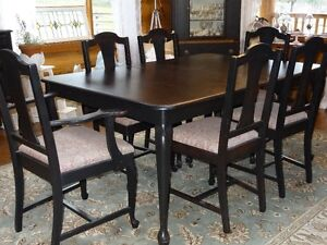Antique Table, 6 Chairs and Buffet