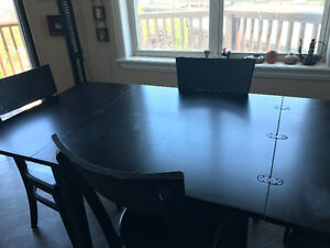 Dining table set - folding table
