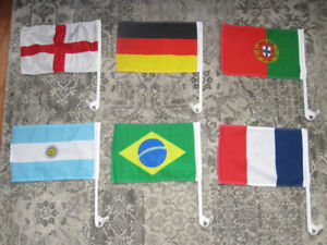 World Cup Soccer Car Flags