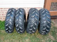 Like New Grizzly 700 wheels/tires