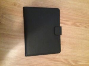 Ipad leather case with note pad