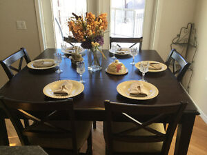 Great Counter Height Dining Table 6 chairs