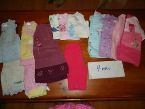 girls clothes size 9 months