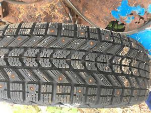 4 firestone studded winter tires
