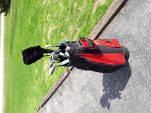 Full set golf clubs, and golf bag
