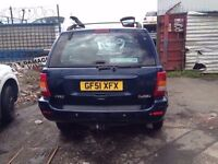 01 JEEP GRAND CHEROKEE TD 3.1 BLUE DIESEL - AUTOMATIC DAMAGED SPARES AND REPAIRS