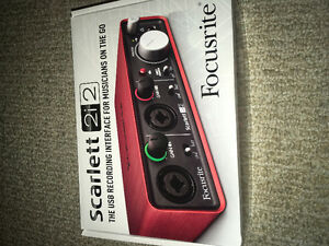 "Audio Interface Scarlett 2i2 ""Focustrie"" Brand new unopened"