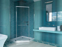 """Mirolin Neo Angle and Round 38"""" Shower Base and Door Combo"""
