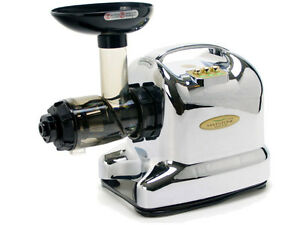 Matstone Advance Juicer IN Chrome Wheatgrass Masticating Slow Juicer eBay