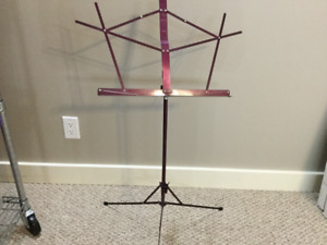 Compact folding portable music stand