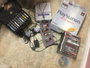 Nintendo Super Nintendo PlayStation and games