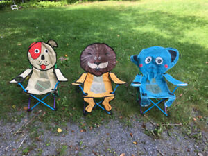 Downsizing SALE..... Kids Camping Chairs (for all Three)