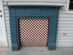 Original fireplace mantel from the River View Arms