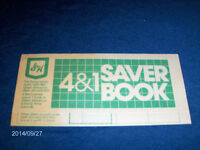 S. & H. GREEN STAMP SAVER FOLD OUT PAMPHLET-COLLECTIBLE!