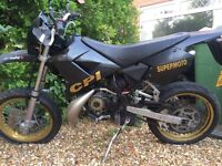 CPI SUPERMOTO 50cc with new racing exhaust