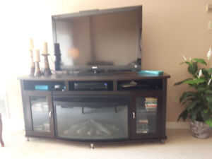 Beautiful brand new  fireplace / tv stand