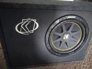 10' kicker comp subwoofer with slim box asking 140