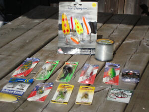 VERY NICE LURE & ROD COMBOS NEW LURES EXCELLENT RODS