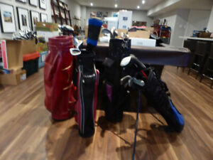 Golf Clubs - Junior Left and Right and One Adult Set