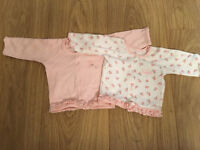 Girls premature cardigans, up to 5lb