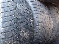 "19"" winter tires 265/50/19 less than half tread"