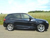 BMW X3 2.0 20D M SPORT XDRIVE AUTOMATIC 5DR BLACK - LOW MILEAGE - HUGE SPEC