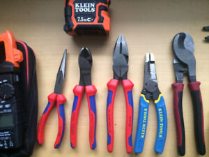 klein and knipex hand tools for electricians,hvac..all new toos